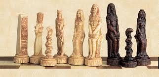 ancient chess egyptian gods chess pieces