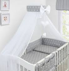 Cot Bed Canopy Bedding Set Baby Nursery Cot Cotbed Pillow Duvet Cover Bumper
