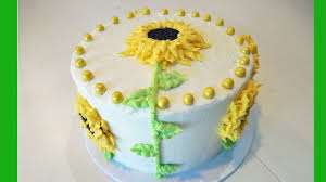 decorate a sunflower flower birthday cake with jill youtube
