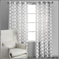 Yellow And Grey Curtain Panels White Curtain Panels With Bronze Grommets Gray And 84 Inch