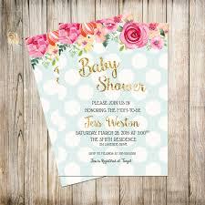baby shower invitation shabby chic shower invitation boy baby