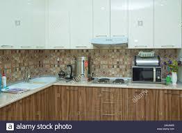 brown and white kitchen cabinets brown and white kitchen design refrigerator modern