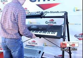 On Stage Keyboard Bench Triple Keyboard Stand By Griffin 3 Tier A Frame Mount Ace