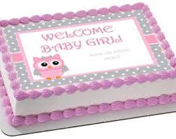 owl cakes for baby shower edible owl cake topper etsy