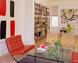 lime green chair living room contemporary with abstract art