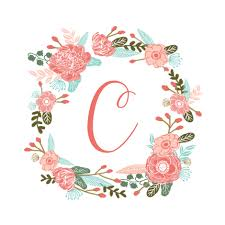 flower wreath c monogram sweet florals flowers flower wreath
