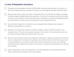 resignation letter templates u2013 32 free word excel pdf documents