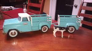 tonka army jeep 1963 54 tonka stake side pick up truck u0026 trailer set tonka
