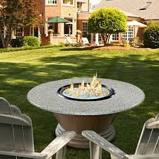 Granite Fire Pit by Simeon Chat Height Fire Pit Table Glass Granite Top