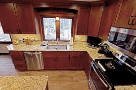 what color countertop looks best with cherry cabinets cherry cabinets with quartz countertop houzz