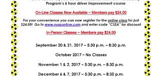5 hours class online defensive driving classes are open for registration csea s the