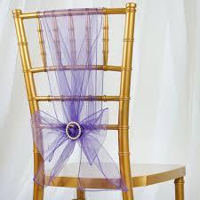 purple chair sashes 5pc x chair sash organza purple tablecloths factory