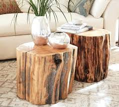 tree stump table base stump end table modern stump side table painted furniture tree stump