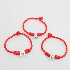 lucky red bracelet images Lucky red bracelet woven bracelet with crystal english letter jpg