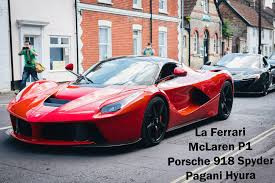 supercar street race laferrari mclaren p1 and porsche 918 youtube