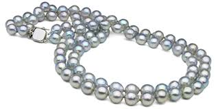color pearl necklace images Natural color baroque blue akoya double strand pearl necklace 8 0 jpg