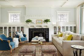 Glass Bookcases Living Room With Built In Glass Bookcases Transitional Living Room