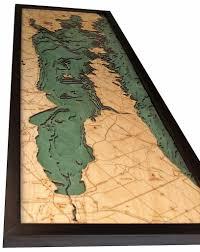 Green Bay Wisconsin Map by Green Bay Door County Peninsula Wisconsin 3 D Nautical Wood