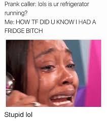 Tf Meme - prank caller lols is ur refrigerator running me how tf did u know