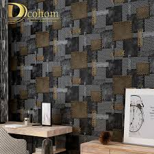 online shop dcohom vintage vinyl 3d metallic textured wallpaper