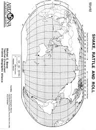 World Map With Longitude And Latitude Degrees by Shake Rattle And Roll