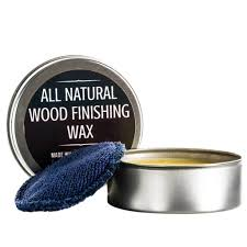 all natural coconut oil and beeswax wood finishing wax 4 oz tin