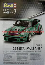 vaillant porsche porsche 934 rsr vaillant model do sklejania revell 07032