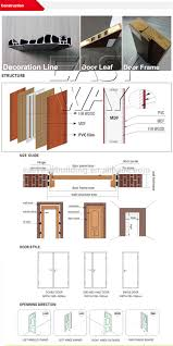modern house design pvc wood bathroom flush door buy pvc