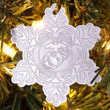 marine corps snowflake ornament challenge coins coins