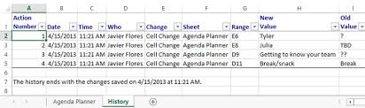 excel 2013 track changes and comments full page