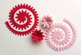 felt headbands make your own diy pink spiky felt flowers roses felt flower crown