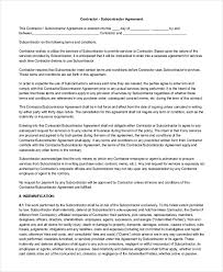 sample contractor agreement form 9 free documents in word pdf