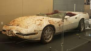 how much do corvettes cost restored corvette damaged by museum sinkhole cnn travel