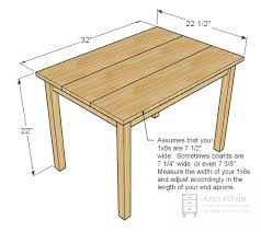 Free Woodworking Plans Childrens Furniture by Ana White Build A Clara Table Free And Easy Diy Project And