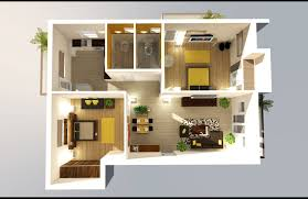 One Bedroom Apartment Plans by 2 25 One Bedroom Houseapartment Plans 3 Bedroom House Plans 3d