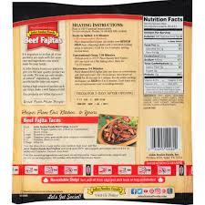 john soules foods fully cooked beef fajitas 14 oz walmart com