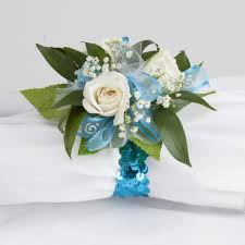 turquoise corsage glam 3 tea wrist corsage martin s specialty store order