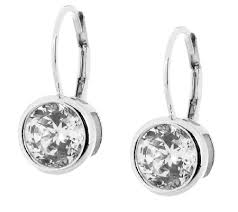 leverback diamond earrings diamonique 100 facet lever back earrings platinum clad page 1