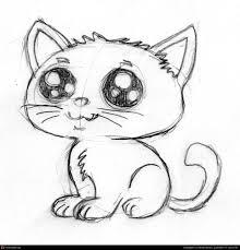 cute cartoon kitten pencil sketch by patrick wilson 2d cgsociety