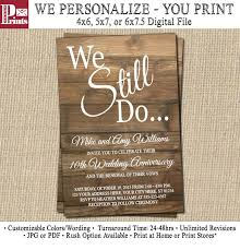 Wedding Anniversary Program Awesome 10 Year Wedding Anniversary Invitations 70 For Your