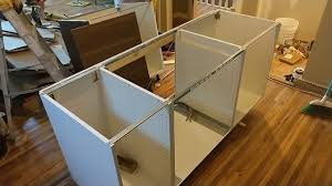 ikea kitchen cabinets on wheels easy how to install an ikea kitchen island