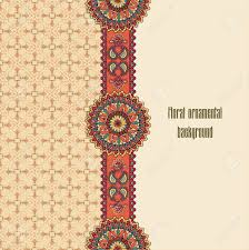 abstract floral pattern geometric ornamental border oriental