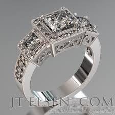 palladium engagement rings pave diamond enagement rings antique style engagement ring
