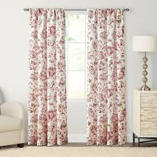 goods for life devonshire print pole top window curtain