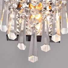 lightinthebox modern semi circular crystal wall light lights for