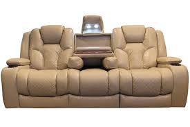 power recliner sofa leather turismo power reclining sofa with drop down table