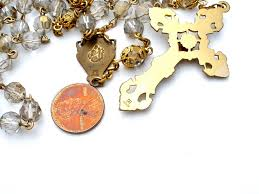 catholic jewelry store catholic rosary crystals gold filled crucifix vintage the
