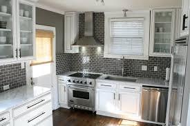 gray backsplash kitchen gray glass subway tile warm grey walls subway tiles and