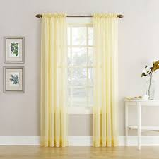 Yellow Sheer Curtains Rod Pocket Yellow Sheer Curtains For Window Jcpenney