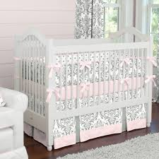 black and white damask crib bedding and nursery decor collection